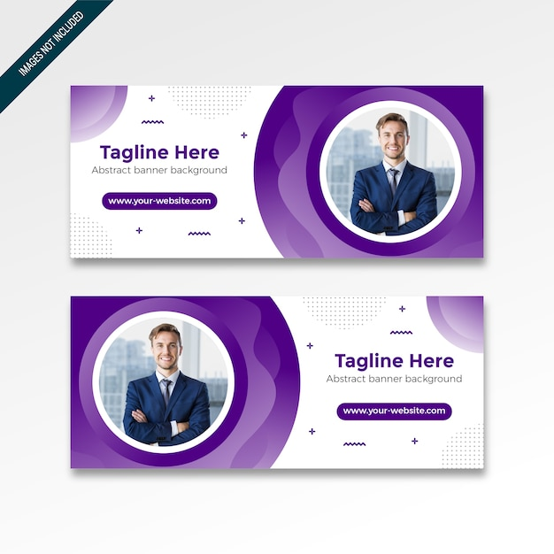 Roll up banner with modern design Premium Vector