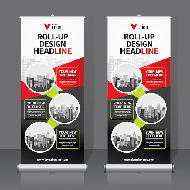 Roll Up Banner Vector Premium Download