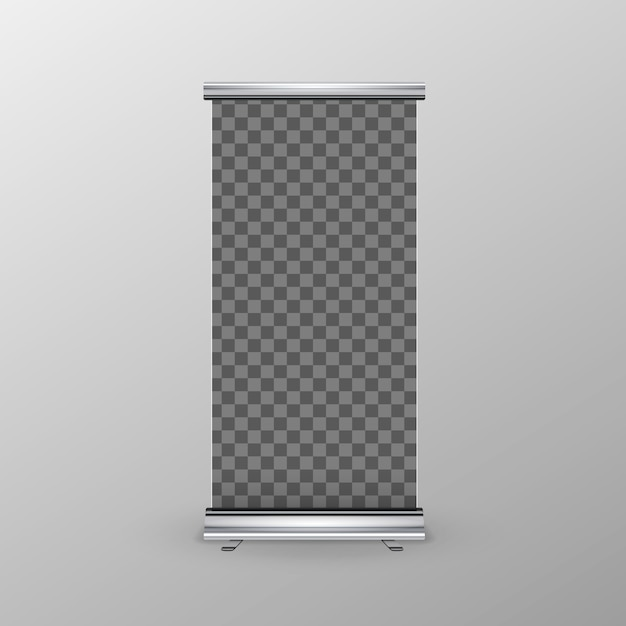 Roll-up banner Premium Vector