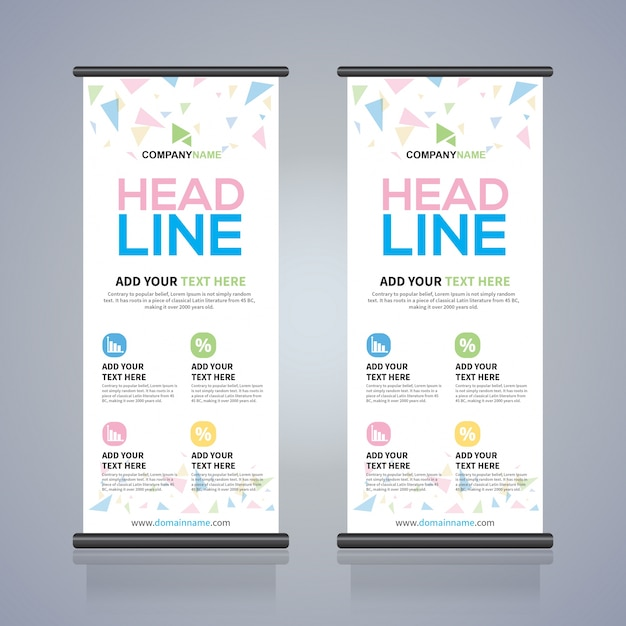 Roll up brochure flyer banner design template, abstract background ...