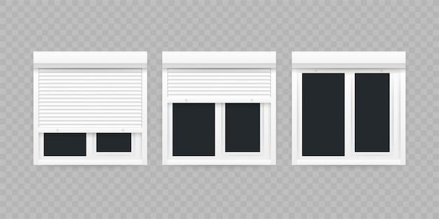 Roll up shutter, great  for any purposes.   illustration. Premium Vector