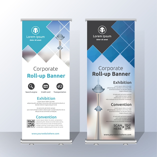 Très Roll up template design Vector | Free Download QS91