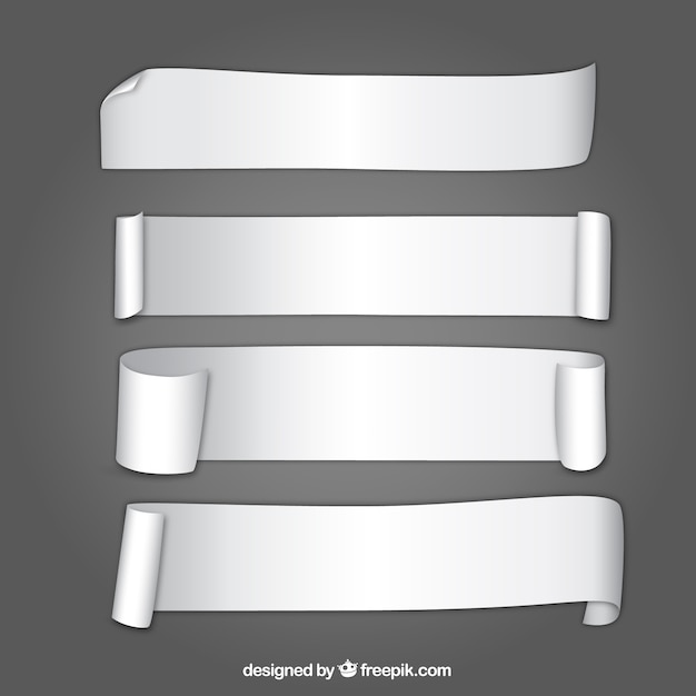 Rolled up papers Free Vector