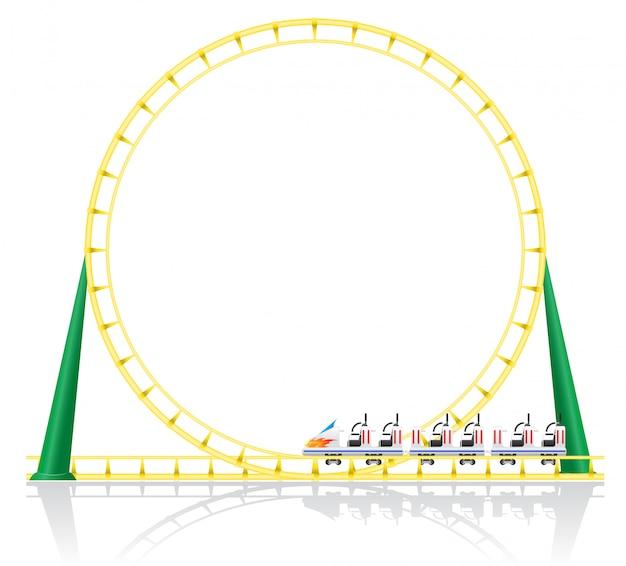 Roller coaster vector illustration Premium Vector
