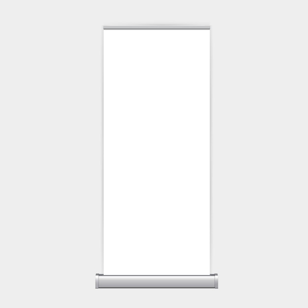 Rollup xbanner stand isolated Premium Vector