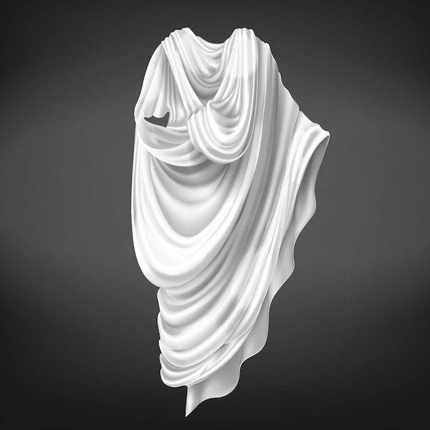 Roman toga isolated on black background. Free Vector