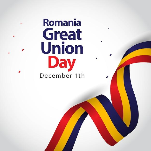Romania great union day vector template design illustration Premium Vector
