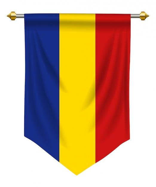 Romania pennant Premium Vector