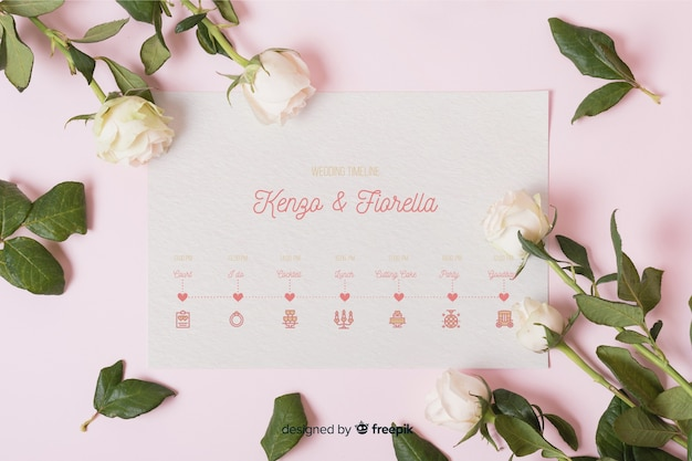 Romantic collection of wedding icons Free Vector