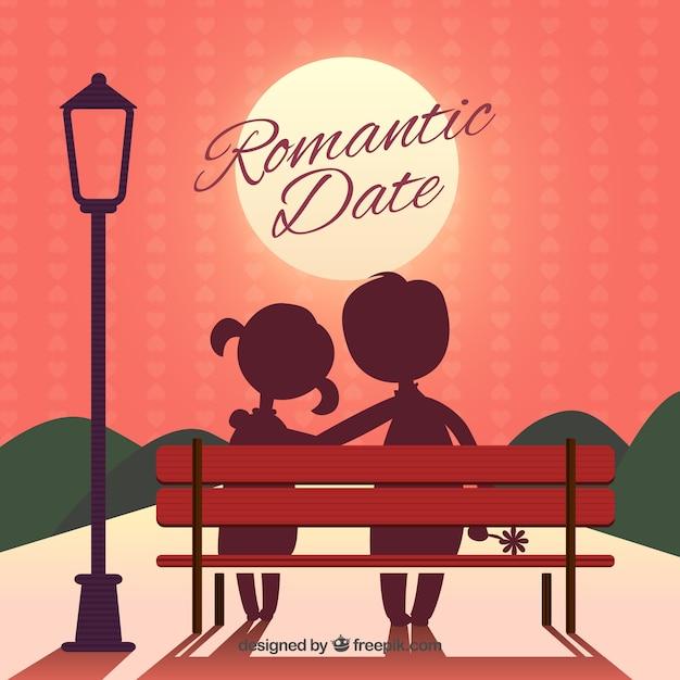 Romantic Date Vector