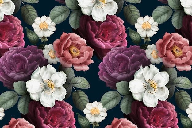 Romantic floral background Free Vector