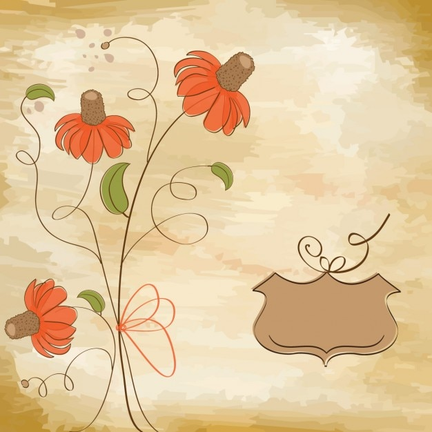 Romantic flowers background