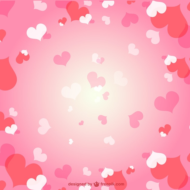 Romantic Hearts Background 712846