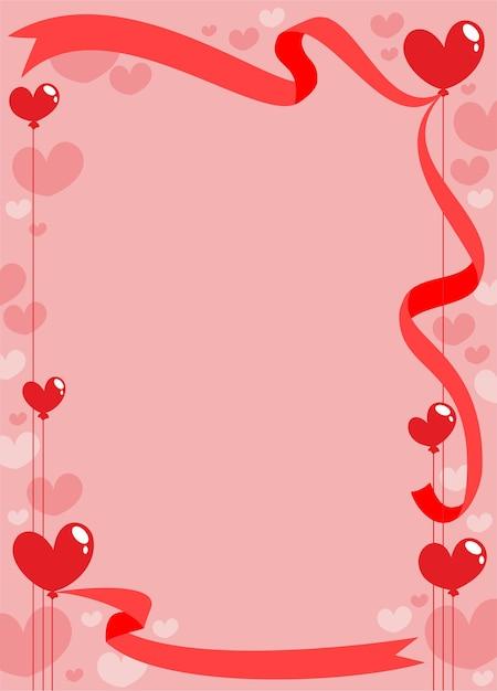ロマンチックな招待カードテンプレート 無料ベクター