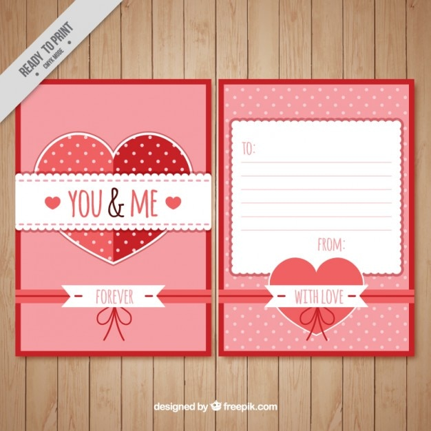 Romantic love letter template