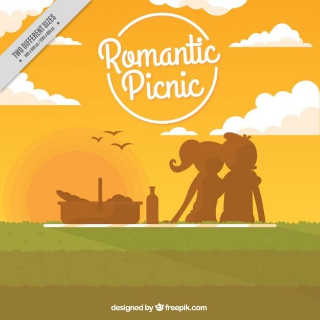Romantic picnic background