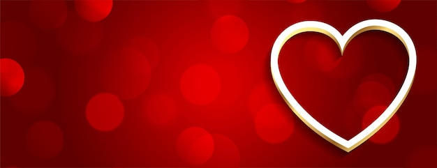 Романтический красный день святого валентина баннер Бесплатные векторы