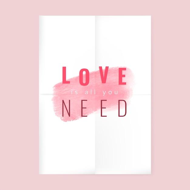 Romantic saying Free Vector
