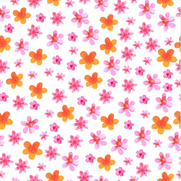 Romantic summer flowers pattern