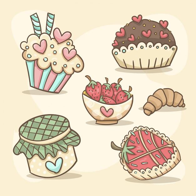 Романтические сладости Бесплатные векторы