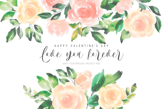 Romantic valentine's background with soft nature Free Vector