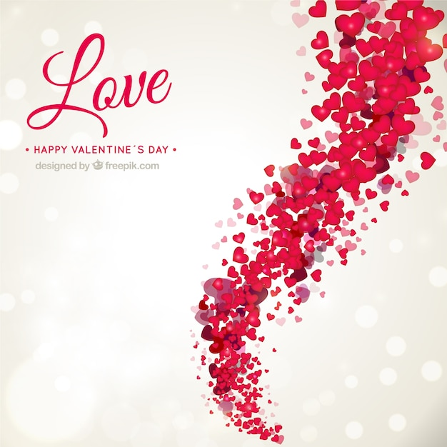 Love Wallpapers Vector : Romantic Valentine s background Vector Free Download