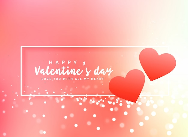 Romantic valentine\'s day poster design background Vector | Free ...