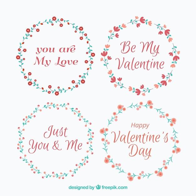 Romantic valentine wreath collection