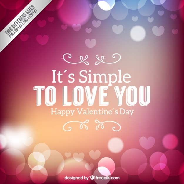 Romantic valentines day background in bokeh style Vector | Free ...