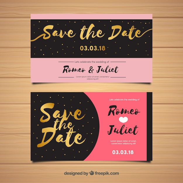 Romantic wedding invitation template vector free download romantic wedding invitation template free vector stopboris Image collections
