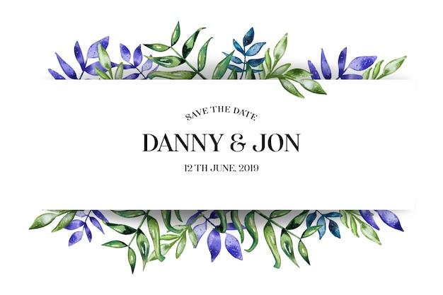 Romantic wedding invitation Free Vector