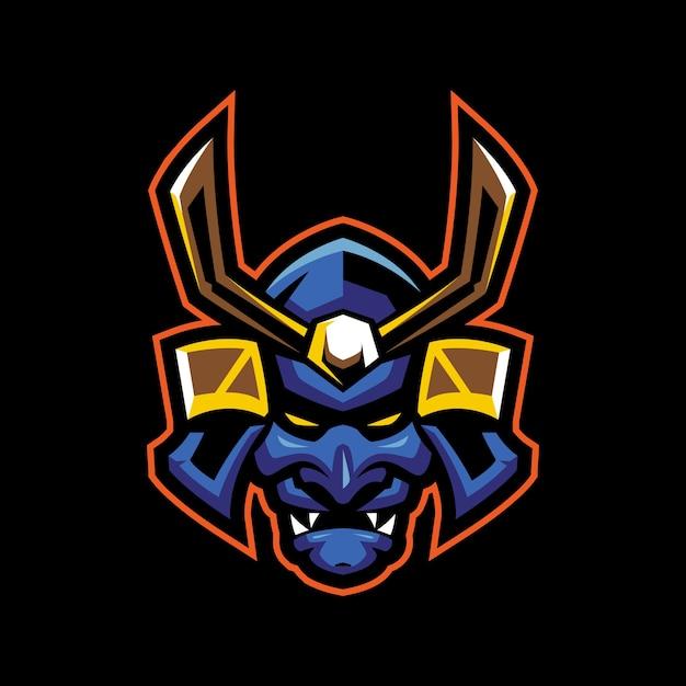 Ronin mascot logo Premium Vector