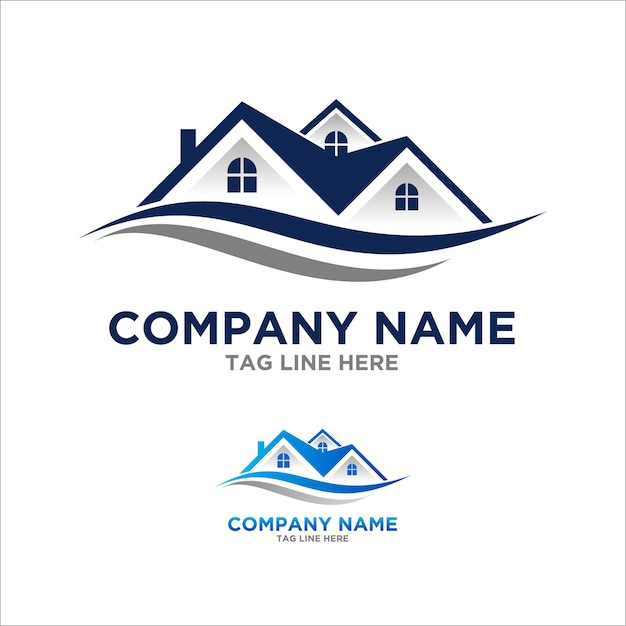 Roof logo element for contruction and real estate company Premium Vector