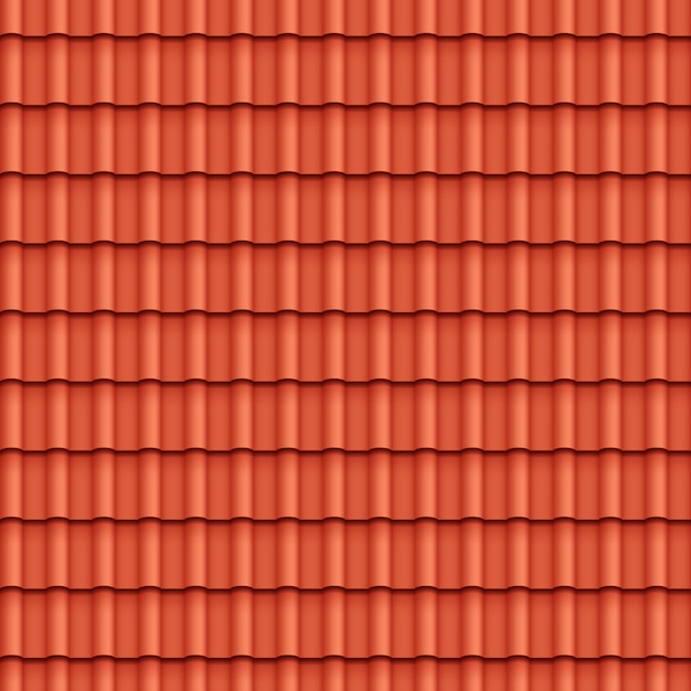 Roof tile seamless pattern Free Vector