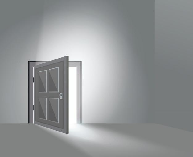 Room door open Free Vector