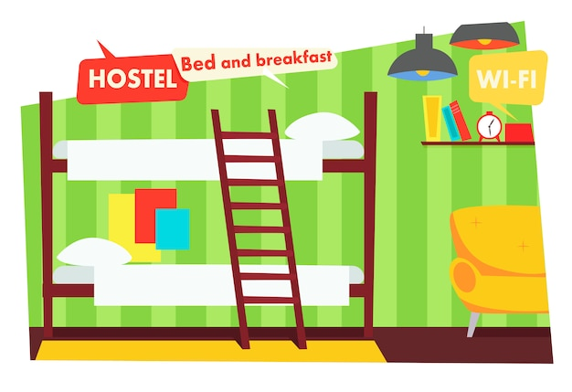 Room in hostel Free Vector