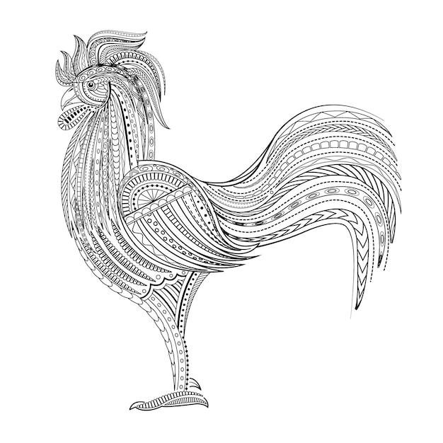 Rooster Premium Vector