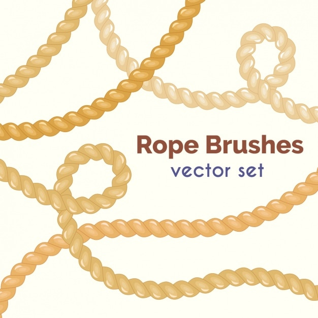 Rope brushes colelction Free Vector