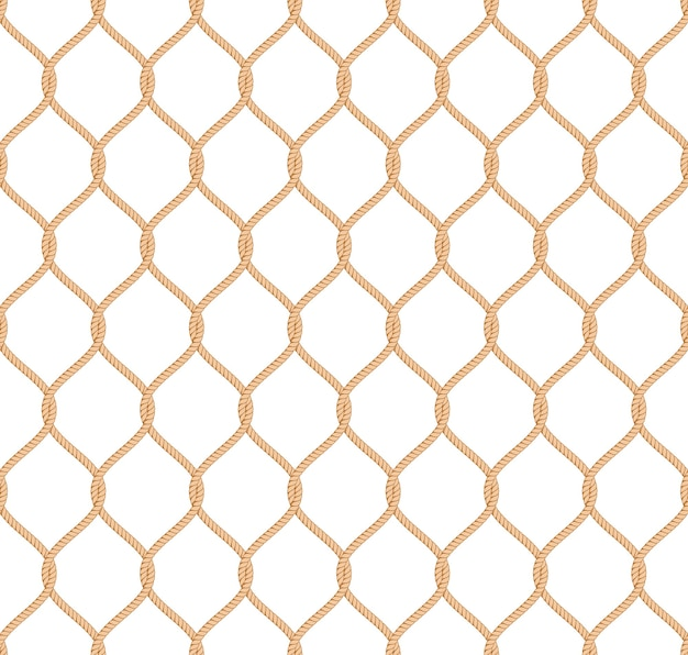 Rope marine net pattern seamless vector Free Vector