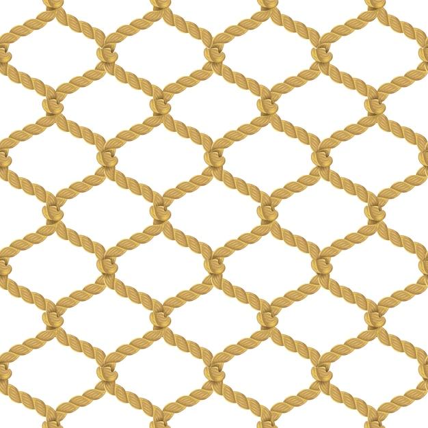 Rope net seamless pattern Free Vector