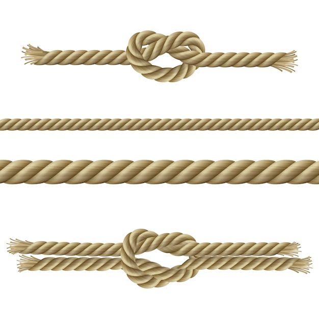 Ropes decorative set Free Vector