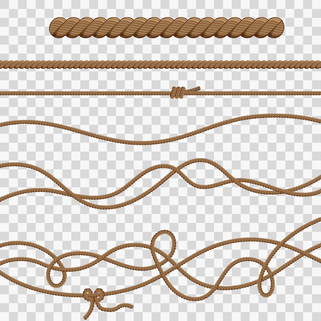Ropes and knots Premium Vector