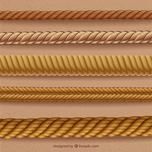 Ropes in spiral forms Free Vector