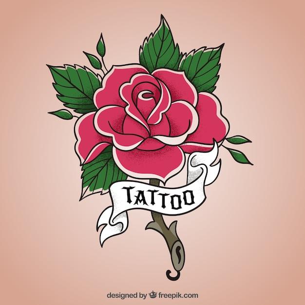 New School Rose Design Flower Vector Free Download
