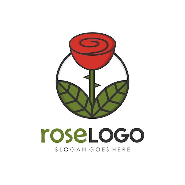 Rose Flower Logo Design Template Vector Premium Download