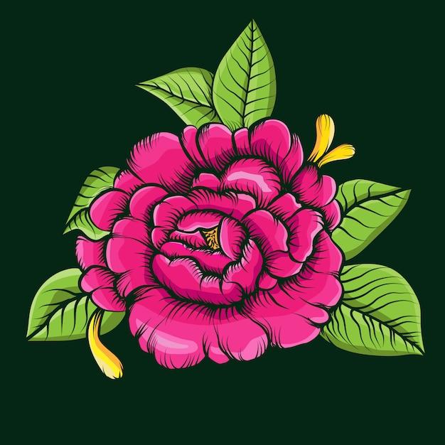 Rose flowers vector illustration Premium Vector