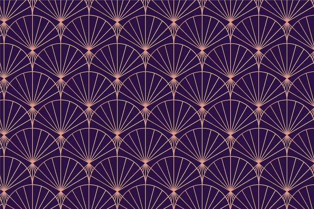 Rose gold art deco palm pattern Premium Vector
