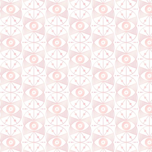 Rose gold art deco pattern design Free Vector