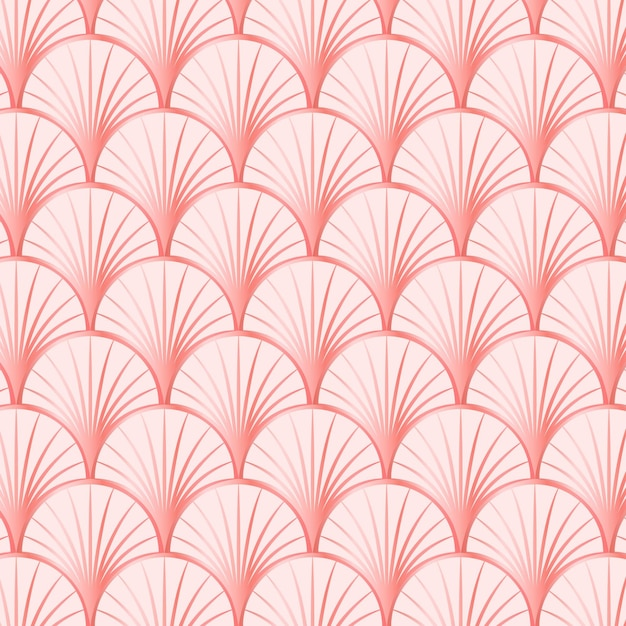 Rose gold art deco pattern Free Vector