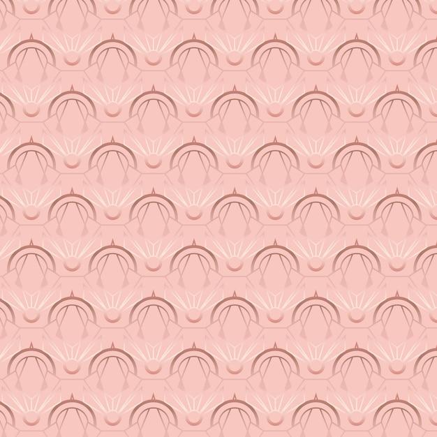 ローズゴールドのアールデコ調のパターン Premiumベクター